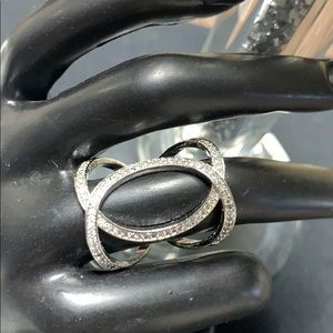 Cubic Zirconia Double-C Shaped Ring